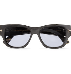 TOM FORD - Tom N.12 Square-Frame Horn Photochromic Sunglasses
