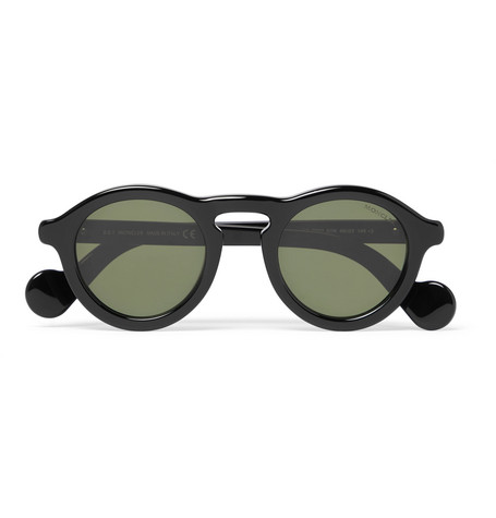 429d437814 Moncler Round-Frame Acetate Sunglasses In Black