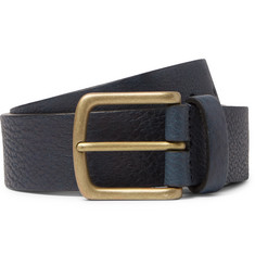 Anderson's 3.5cm Navy Full-Grain Leather Belt
