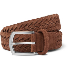 Anderson's 3.5cm Tan Woven Suede Belt