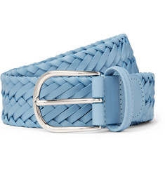 Anderson's 3.5cm Light-Blue Woven Leather Belt