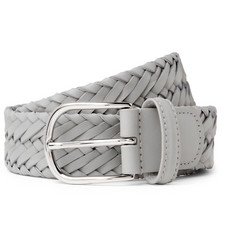 Anderson's 3.5cm Grey Woven Leather Belt