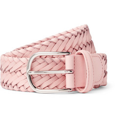Anderson's 3.5cm Light-Pink Woven Leather Belt
