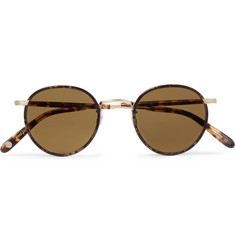 Garrett Leight California Optical - Wilson 46 Round-Frame Tortoiseshell Matte-Acetate and Gold-Tone Sunglasses
