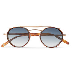 Garrett Leight California Optical - Penmar Round-Frame Gold-Tone and Tortoiseshell Acetate Optical Glasses With Clip-On UV Lenses