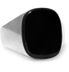 Foundwell Silver Onyx Signet Ring