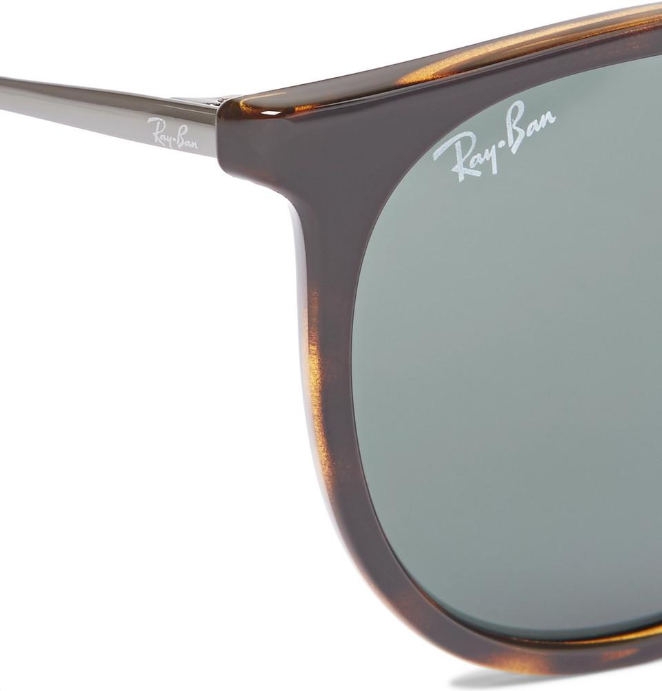 Ray-Ban Erika Round-Frame Tortoiseshell Acetate Sunglasses