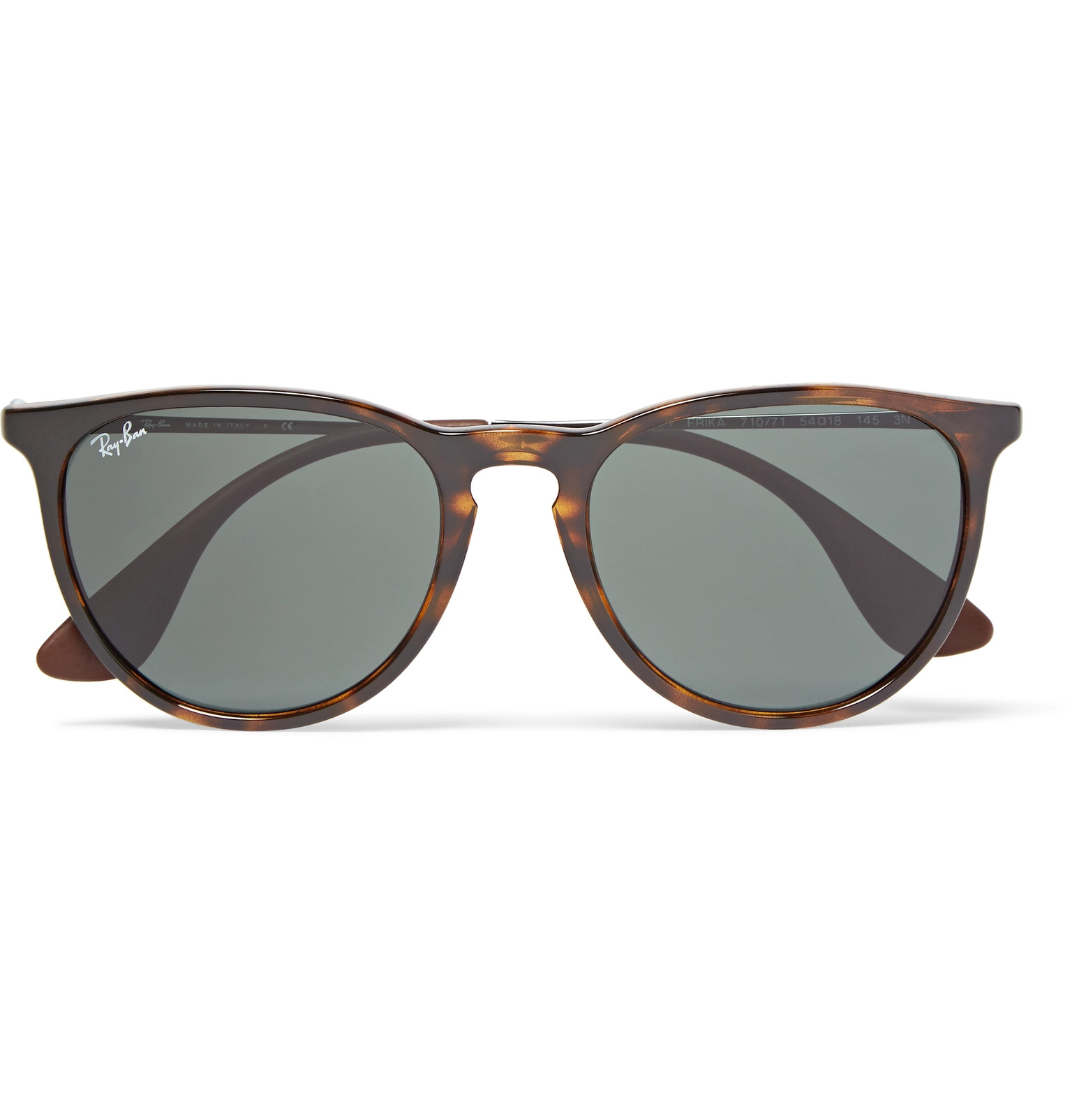 e9561cf620 Ray-Ban - Erika Round-Frame Tortoiseshell Acetate Sunglasses
