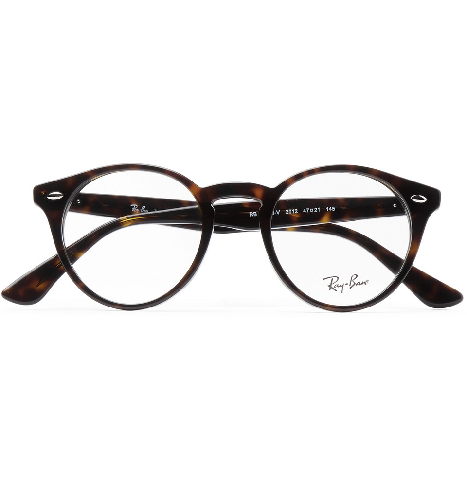Ray-Ban Round-Frame Tortoiseshell Acetate Optical Glasses