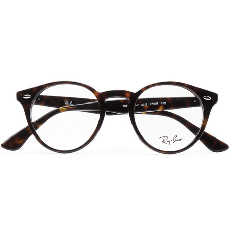 09706e4b84 Ray-Ban - Round-Frame Tortoiseshell Acetate Optical Glasses