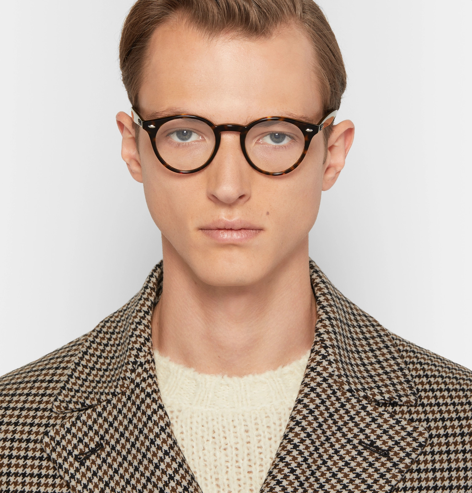 0209a912b0243 Ray-Ban - Round-Frame Tortoiseshell Acetate Optical Glasses