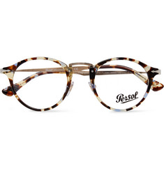 Persol Round-Frame Tortoiseshell Acetate and Gold-Tone Optical Glasses