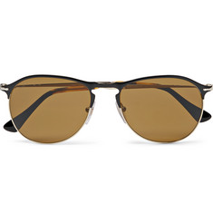 Persol - Aviator-Style Metal Polarised Sunglasses