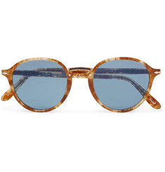 Persol - Combo Evolution Round-Frame Acetate and Gold-Tone Sunglasses