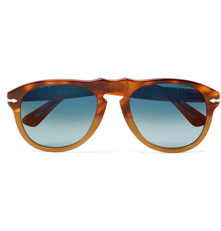 4974f24a89a8d Persol Aviator-Style Tortoiseshell Acetate Sunglasses In Brown ...