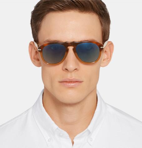 By Tortoiseshell Persol Sunglasses Acetate Shoptagr Aviator Style EqUTX
