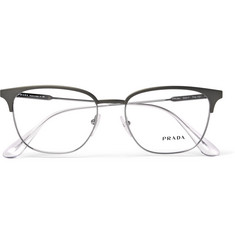 Prada - D-Frame Silver-Tone Optical Glasses
