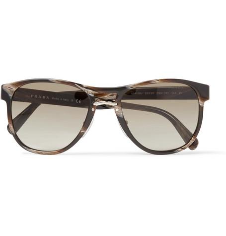 Prada - D-Frame Acetate and Gold-Tone Sunglasses