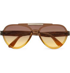 Prada Aviator-Style Acetate and Gold-Tone Sunglasses