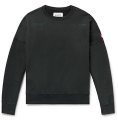 Cav Empt Embroidered and Printed Loopback Cotton-Jersey Sweatshirt