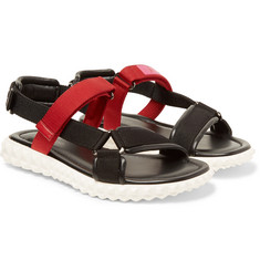 Valentino - Coordinates Grosgrain and Leather Sandals