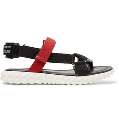 Valentino Coordinates Grosgrain and Leather Sandals