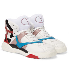 Valentino - Made One Panelled Leather High-Top Sneakers