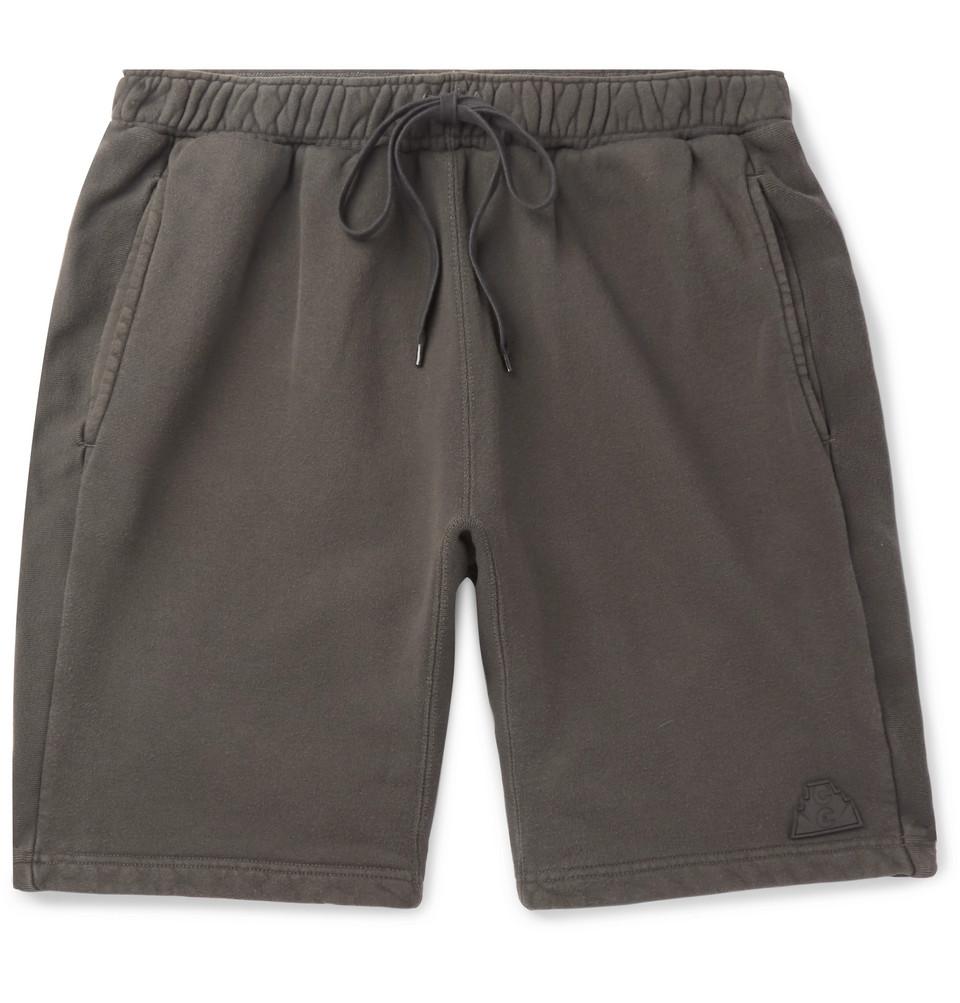 Loopback Cotton-jersey Shorts - Gray