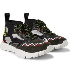 Valentino - Heroes Reflex Suede, Leather and Mesh Sneakers