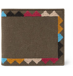 Valentino - Embroidered Canvas Wallet
