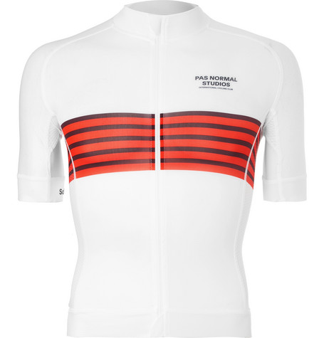 PAS NORMAL STUDIOS Solitude Zip-Up Cycling Jersey in White