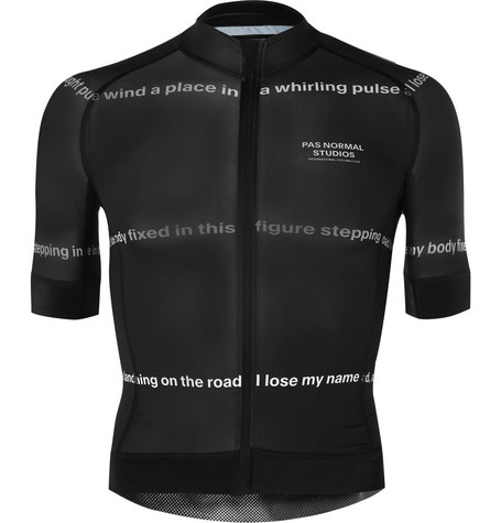PAS NORMAL STUDIOS Road To Nowhere Printed Zip-Up Cycling Jersey - Black