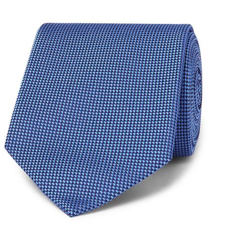 Kingsman + Drake's 8cm Silk-jacquard Tie In Blue