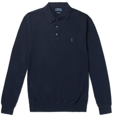 Polo Ralph Lauren - Slim-Fit Knitted Cotton Polo Shirt