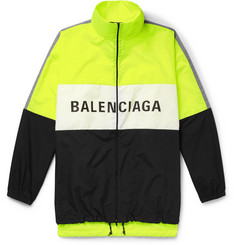Balenciaga Oversized Logo-Print Shell and Ripstop Jacket