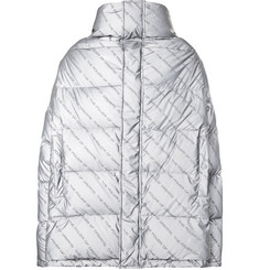 Balenciaga Oversized Printed Quilted Shell Down Jacket