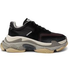 98329cddfd19 ... Suede and Leather Sneakers. Balenciaga