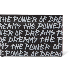 Balenciaga Printed Full-Grain Leather Pouch