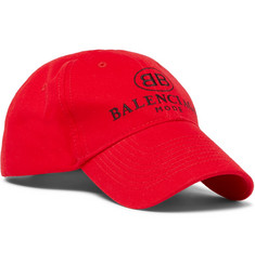 Balenciaga - Logo-Embroidered Cotton Baseball Cap