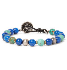 Peyote Bird - Turquoise, Lapis and Sterling Silver Bracelet
