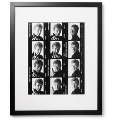 Sonic Editions Framed 1972 Roger Moore Contact Sheet Print, 17