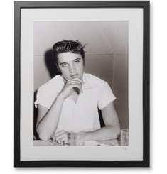 Sonic Editions Framed Elvis At Diner Print, 17