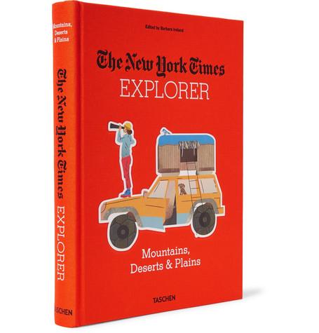 TASCHEN THE NEW YORK TIMES EXPLORER: MOUNTAINS, DESERTS & PLAINS HARDCOVER BOOK
