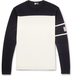 Z Zegna Two-Tone TECHMERINO Wool Sweater