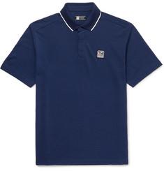 Z Zegna Contrast-Tipped TECHMERINO Wool-Piqué Polo Shirt