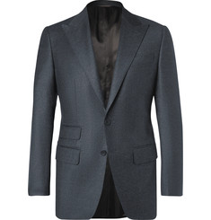 Thom Sweeney Dark-Blue Slim-Fit Wool and Cashmere-Blend Suit Jacket
