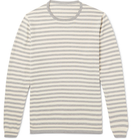 Striped Cotton Sweater by Anderson & Sheppard
