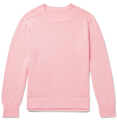 Anderson & Sheppard Cotton Sweater In Pink