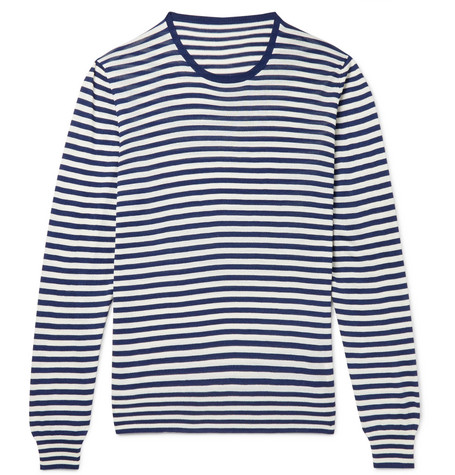striped-silk-sweater by anderson-&-sheppard