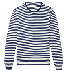 Anderson & Sheppard Striped Silk Sweater
